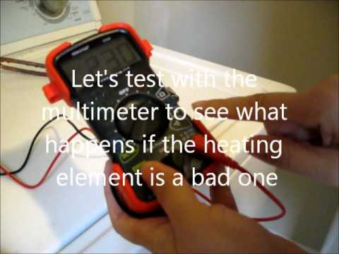 Test Heating Element Of The Ge Water Heater With A