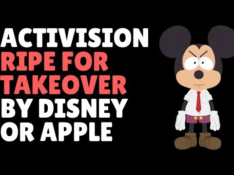 Activision Blizzard TANKS & Disney Or Apple Set For Takeover?