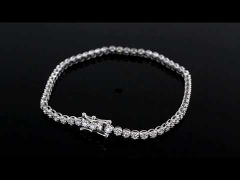 Browns Family Jewellers White Gold And Diamond Line Bracelet