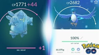 Regice! Is It Worth Powering Up? Articuno Powered Up! Articuno Vs. Regice - Pokemon GO