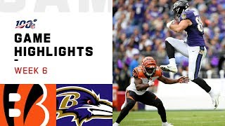 Bengals vs. Ravens Week 6 Highlights | NFL 2019