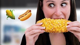 CORN on the DOG **Corn on the Cob But Instead of the Corn Bone It's A Hotdog**