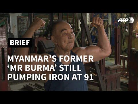 Myanmar's former 'Mr Burma' still pumping iron at 91   AFP photo