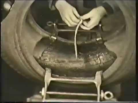 Reparation af dæk anno 1949