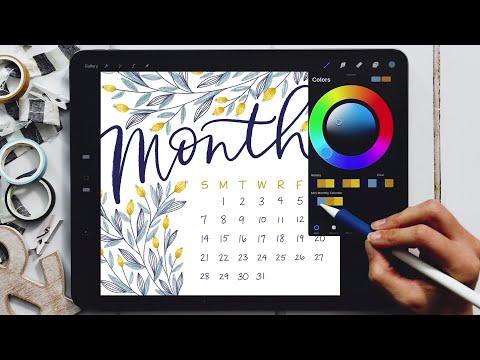 Design a Monthly Calendar in Procreate