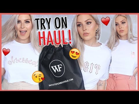 White Fox Boutique TRY ON HAUL ?? & Announcement!