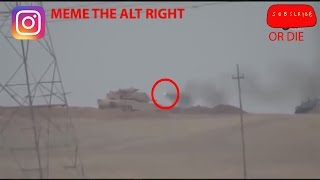 Tank Hunting in iraq and syria tank getting hit by tows compilation