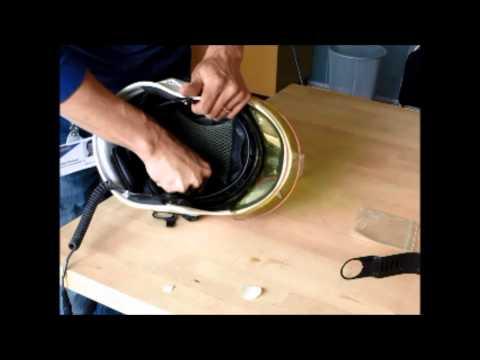 HC1 in Gallet F1S helmet installation part 4