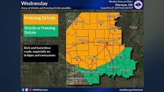 Oklahoma Weather Forecast: Wednesday, Feb. 27, 2019