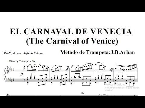 Partitura Carnaval de Venecia Para Piano y Trompeta