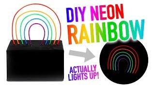 DIY Neon Rainbow Room Decor ~ Really Lights Up! - HGTV Handmade