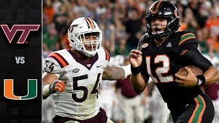 Virginia Tech vs. Miami Football Highlights (2017)
