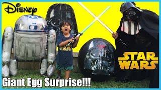 GIANT EGG SURPRISE OPENING Disney Toys Star Wars