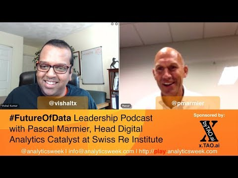 Pascal Marmier (@pmarmier) @SwissRe discusses running data driven innovation catalyst