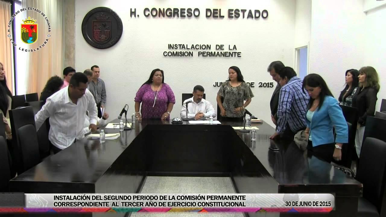 Instalación de la Comisión Permanente 30 de Junio de 2015