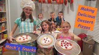 Delicious Dessert Pizza's (2018) - Family Fun Size Cooking!