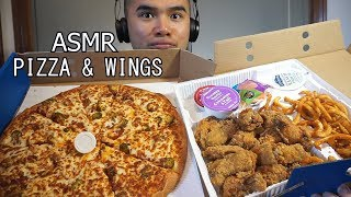 Asmr PIZZA & WINGS * EXTREME CRUNCH * EXTREME EATING SOUNDS *NO TALKING