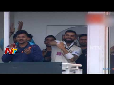 Rohit Sharma hits his 1st Test hundred on foreign soil; achieves a milestone