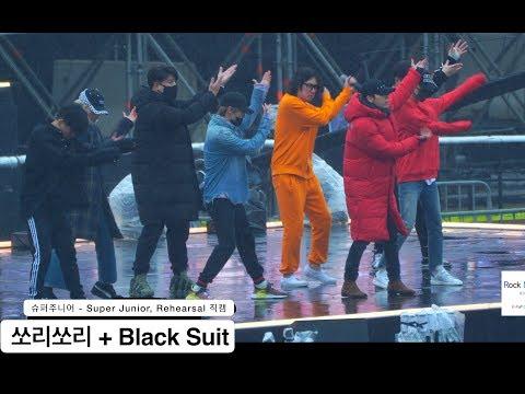 슈퍼주니어 - Super Junior[4K Rehearsal 직캠]쏘리쏘리 + Black Suit@180224 락뮤직