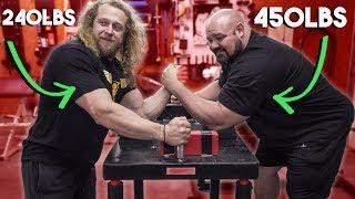 Jujimufu vs. Brian Shaw ARM WRESTLING MATCH