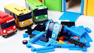 Tayo the Little Bus Friends Toys - Rogi Lani and Gani Build & Play with Tayo block Building!