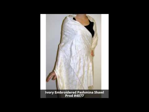Handcrafted Embroidered Pashmina Shawls at YoursElegantly