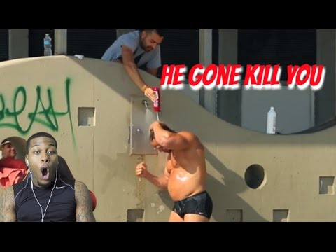 Shampoo Prank On Bodybuilder Reaction