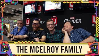The McElroy family visits the Marvel booth at SDCC 2019!