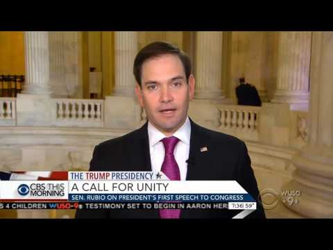 Rubio discusses immigration, ObamaCare, infrastructure, healing divisions on CBS This Morning