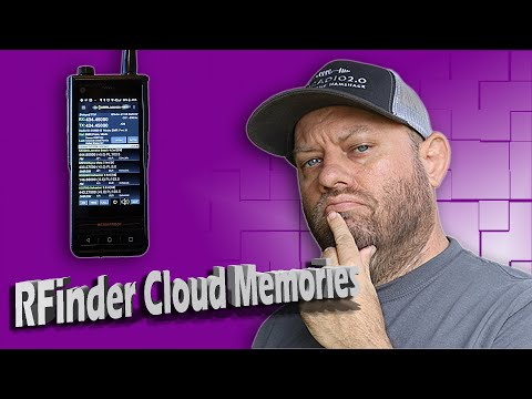 RFinder Cloud Memories - Backing Up and Loading | RFinder Android DMR Radio