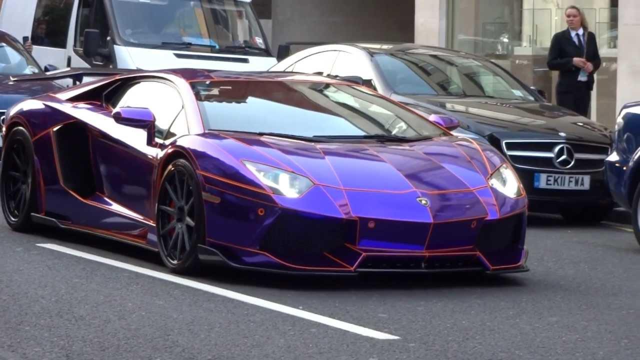 Ferrari California T >> Supercars in London 2 - PURPLE TRON Aventador, Veyron Super Sport, Aston Martin One-77, Ferrari ...