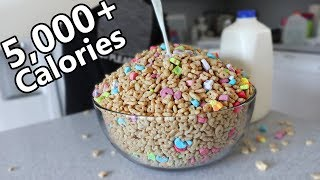 GIANT Bowl of Lucky Charms CHALLENGE (5,000+ Calories)