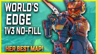 Valkyrie Solo No-Fill On World's Edge Is Incredible! Her Best Map In Apex Legends