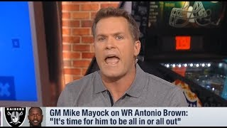 GMFB crew reacts to Antonio Brown absent from Raiders Practice