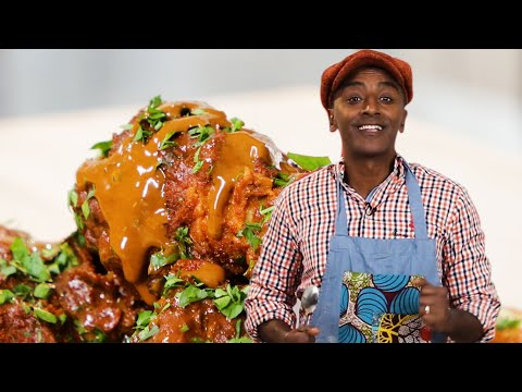 Fried Chicken With Chocolate Sauce As Made By Marcus Samuelsson ? Proper Tasty