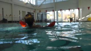 Lifeguarding Drill: Kickback, Inverted Scissor Kick with One Arm Towing Variation