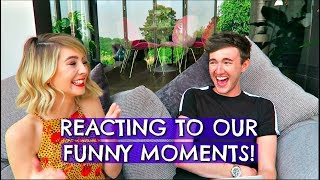 ME & ZOE REACTING TO OUR FUNNY MOMENTS!
