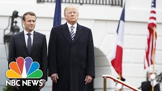 President Donald Trump, French President Emmanuel Macron hold White House News Conference   NBC News