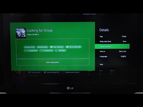 How to Use Looking for Group Feature on Xbox One