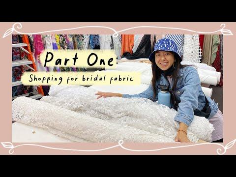 Bridal Fabric Shopping + Haul | Making My White Reception Dress Pt. 1