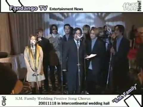 Old SMTOWN artists at a Wedding (FTTS, Shinhwa, Kangta, Heejun, BoA etc)