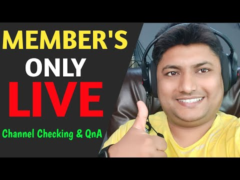 Members Only Live | Channel Checking & QnA | 28 May 2021