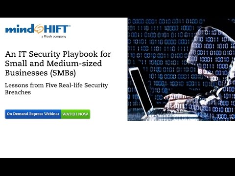 An IT Security Playbook for Small and Medium-sized Businesses (SMBs)