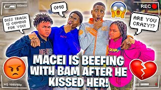 MACEI IS BEEFING WITH BAM AFTER HE KISSED HER!💔 *DISS TRACK COMING*