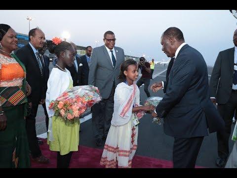 Arrivée du Président OUATTARA à Addis Abeba pour prendre part au 30e Sommet de l'UA
