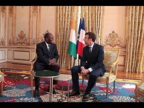 Entretien du Président Alassane OUATTARA, avec son homologue français au Palais de l'Elysée
