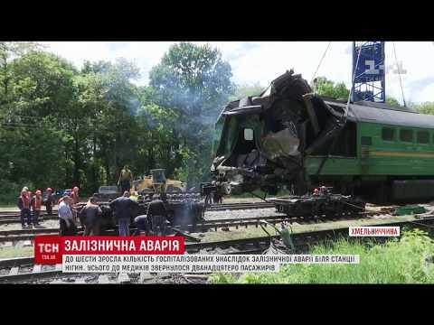 Кількість постраждалих після зіткнення поїздів на Хмельниччині зросла