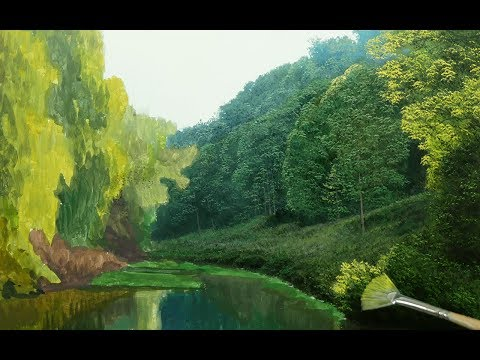 How to paint atmospheric trees #138