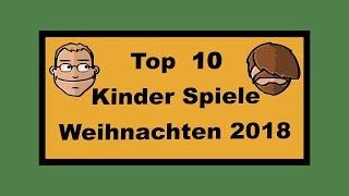 Top 10 Kinderspiele für Weihnachten 2018 - Geschenktipps