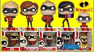 The Incredibles 2 Movie Funko Pop with Baby Jack Jack Family Superheroes